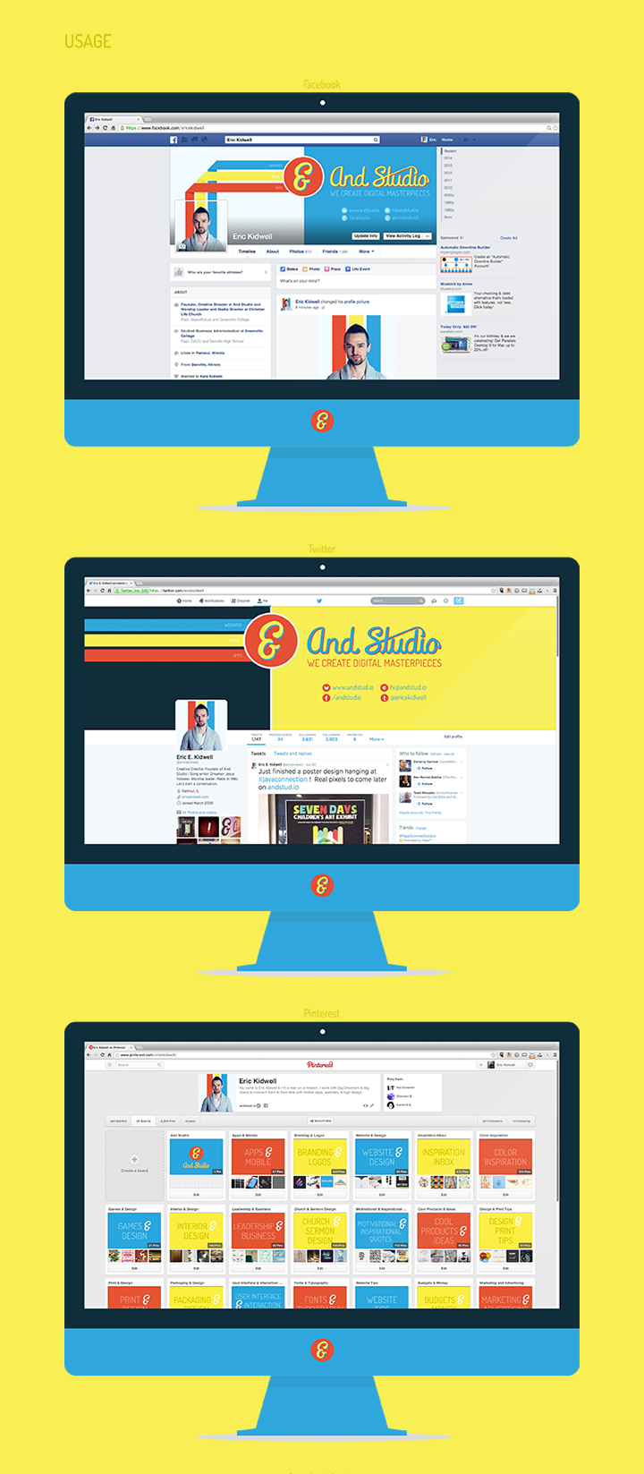 Brand Style Guide - And Studio - Usage - Social